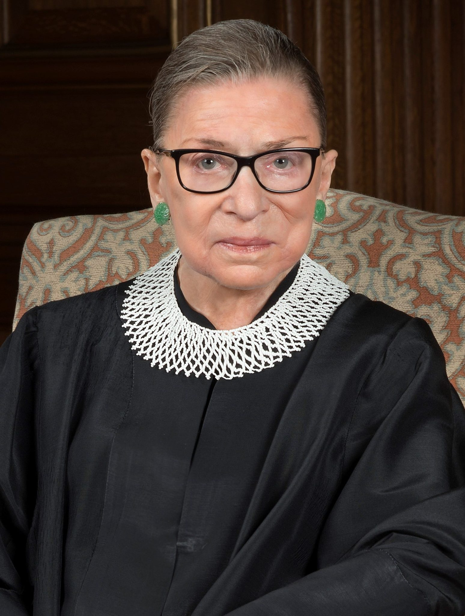 Woman in judge's robes