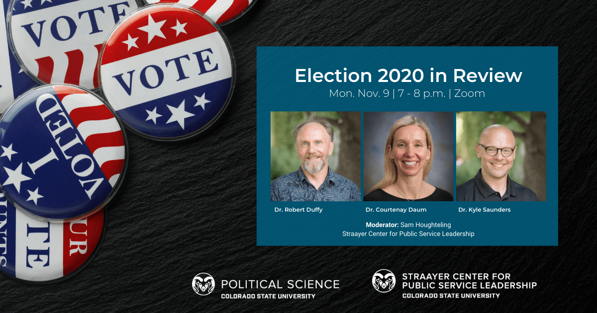 Election 2020 Review Event on Nov 9