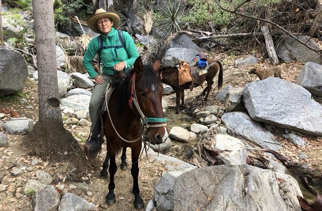 Osborne on a burro