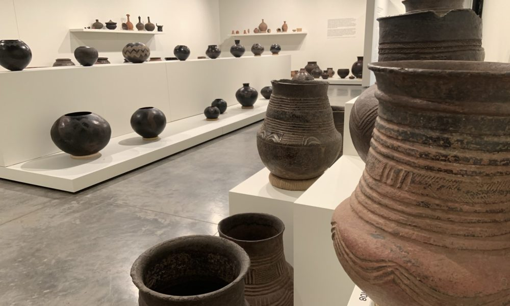 "Pottery featured in the Gregory Allicar Museum of Art exhibition, ""Shattering Perspectives: A Teaching Collection of African Ceramics"""