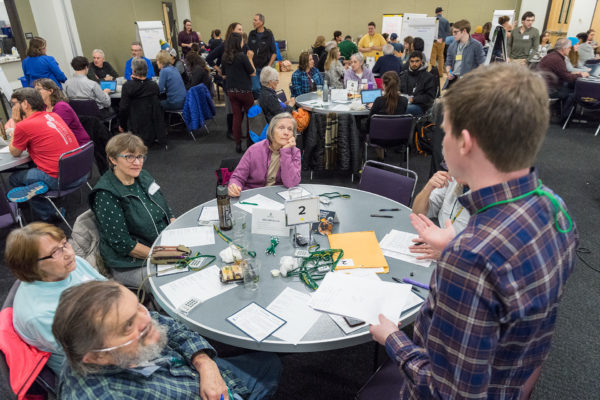 The Center for Public Diliberation holds a community forum on local air quality in Fort Collins Colorado on March 6, 2019