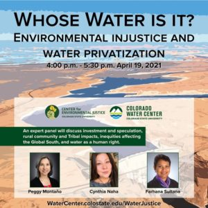 Whose Water Is It event with the Colorado Water Center on April 19