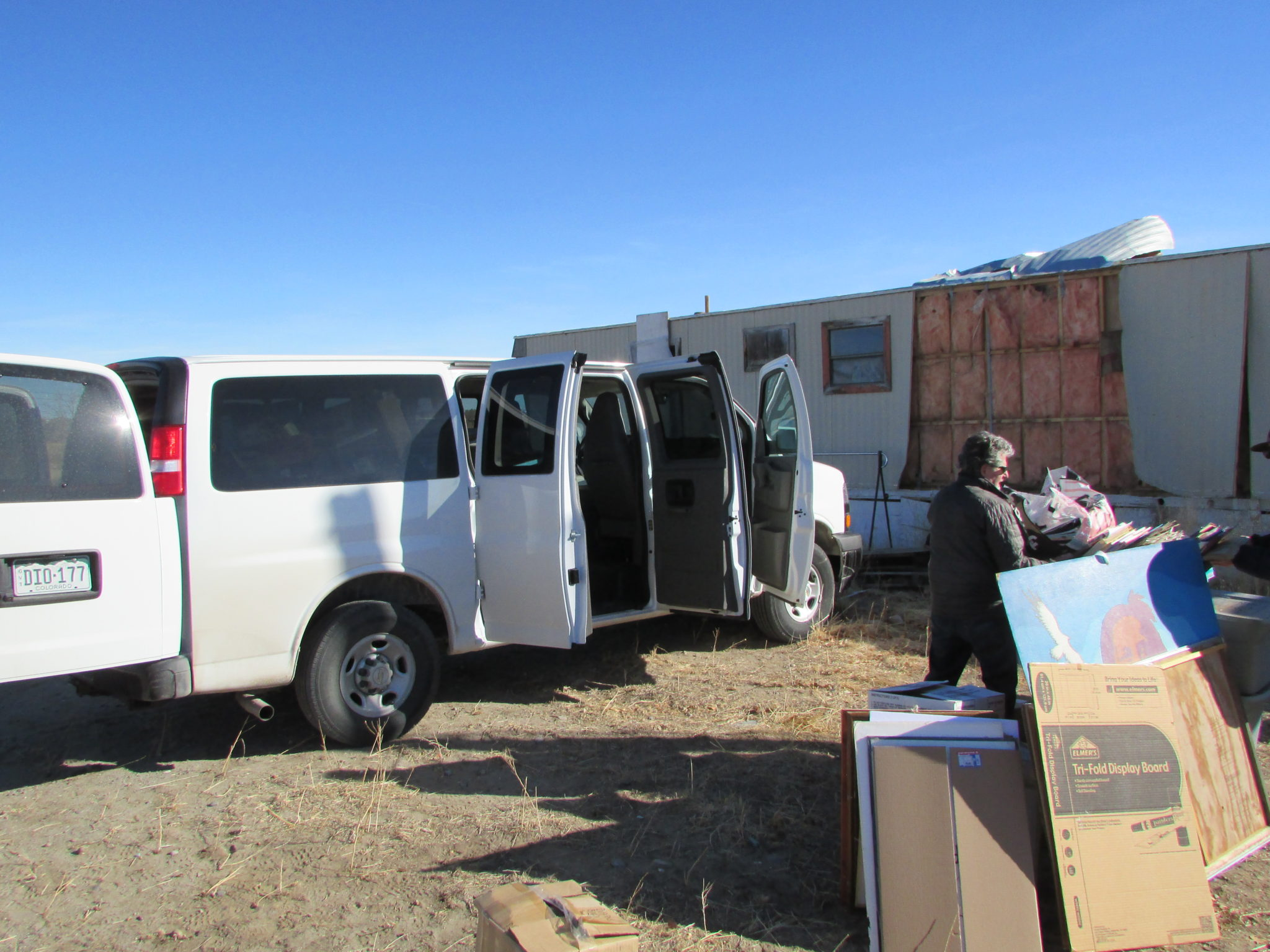 Packing up the van