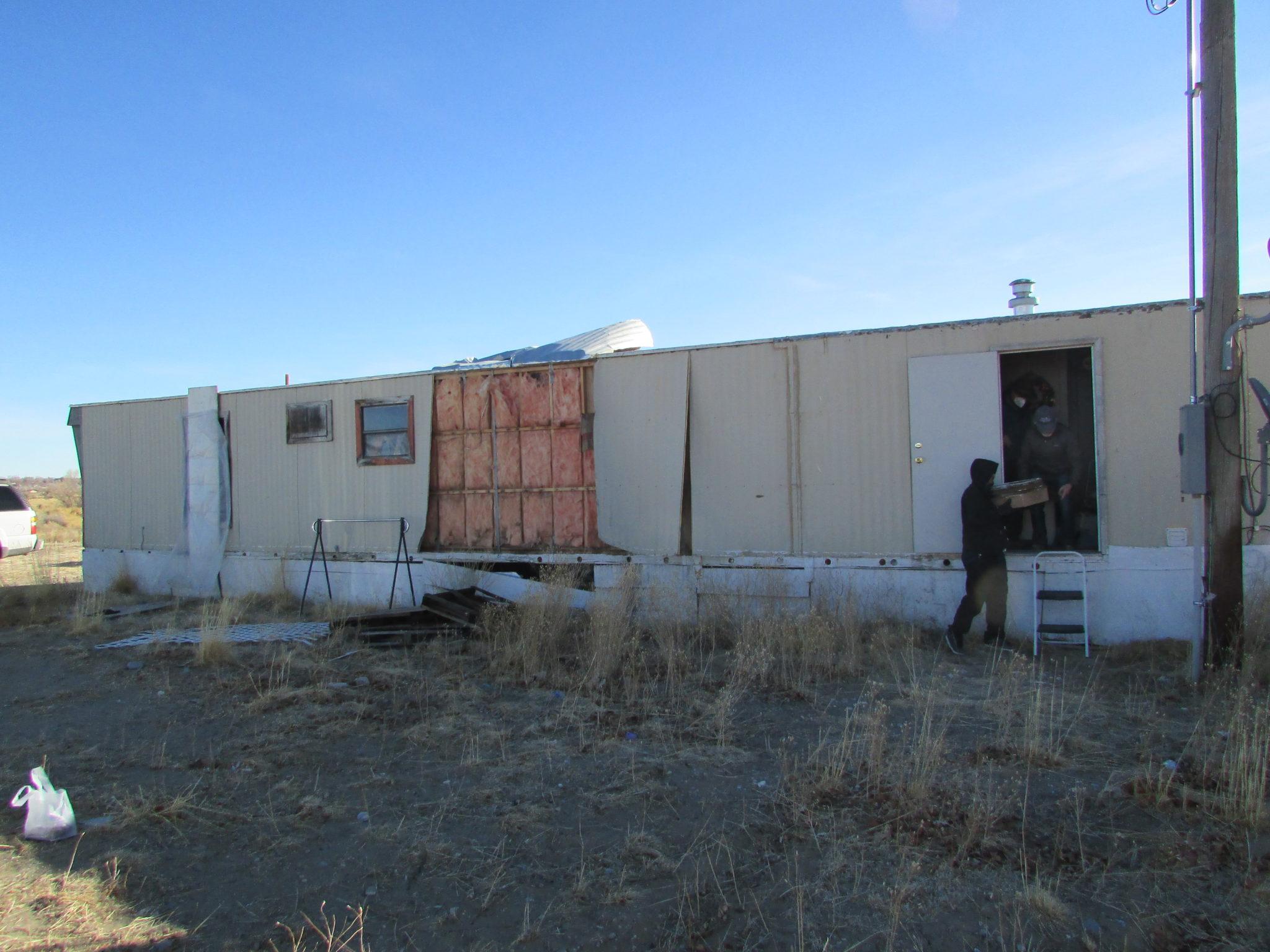 Damaged trailer