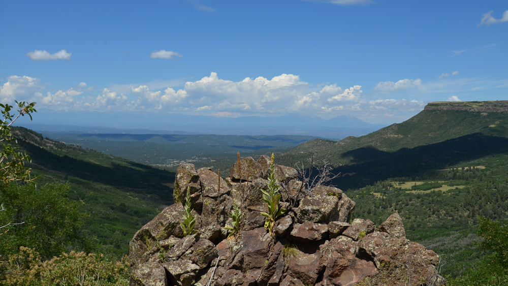 The view from the top of Fishers Peak