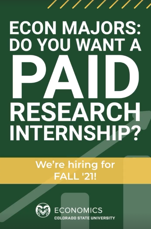 Econ Majors: Do you want a paid research internship?