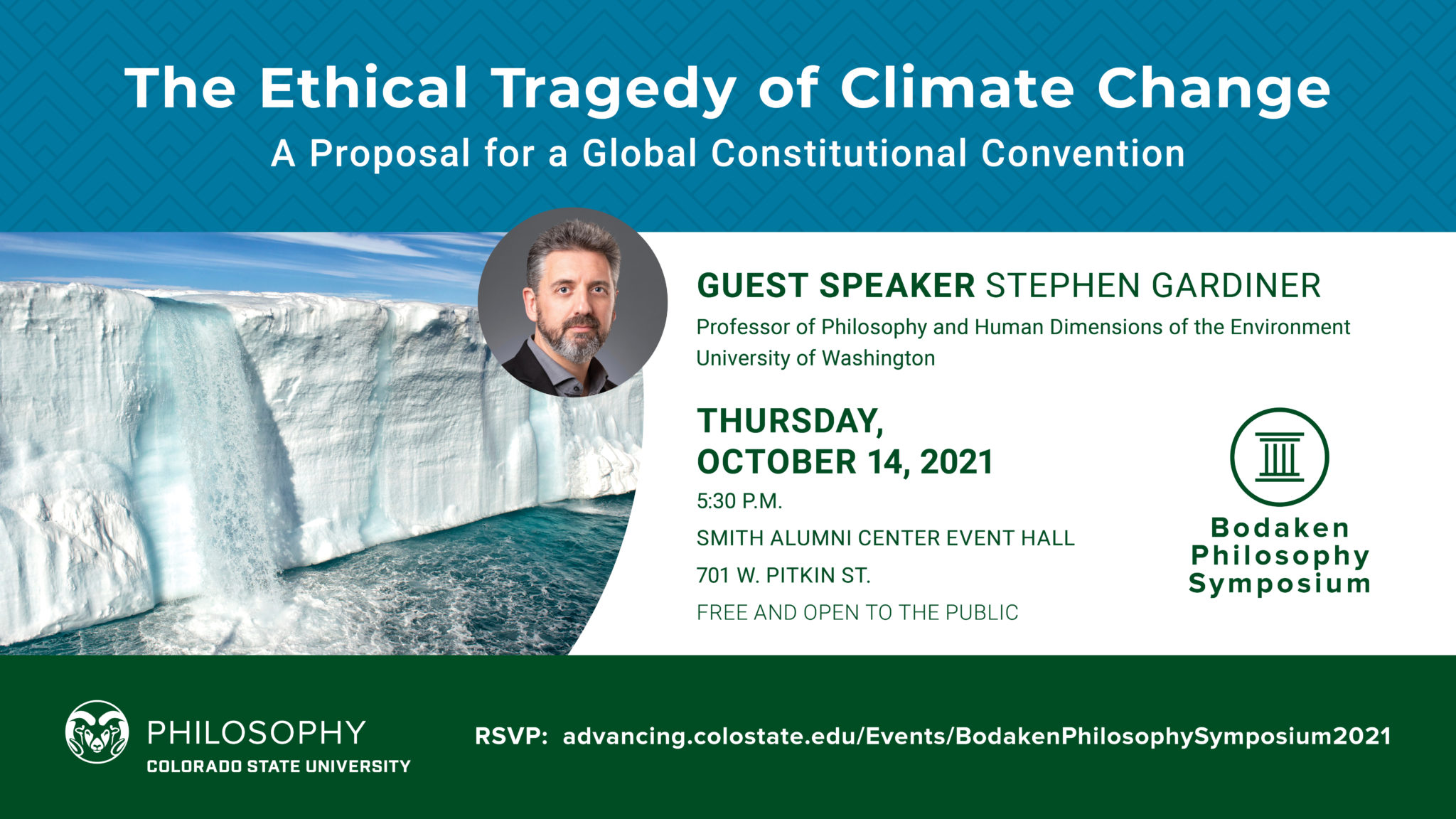 The Ethical Tragedy of Climate Change is the topic for the 2021 Bodaken Symposium event