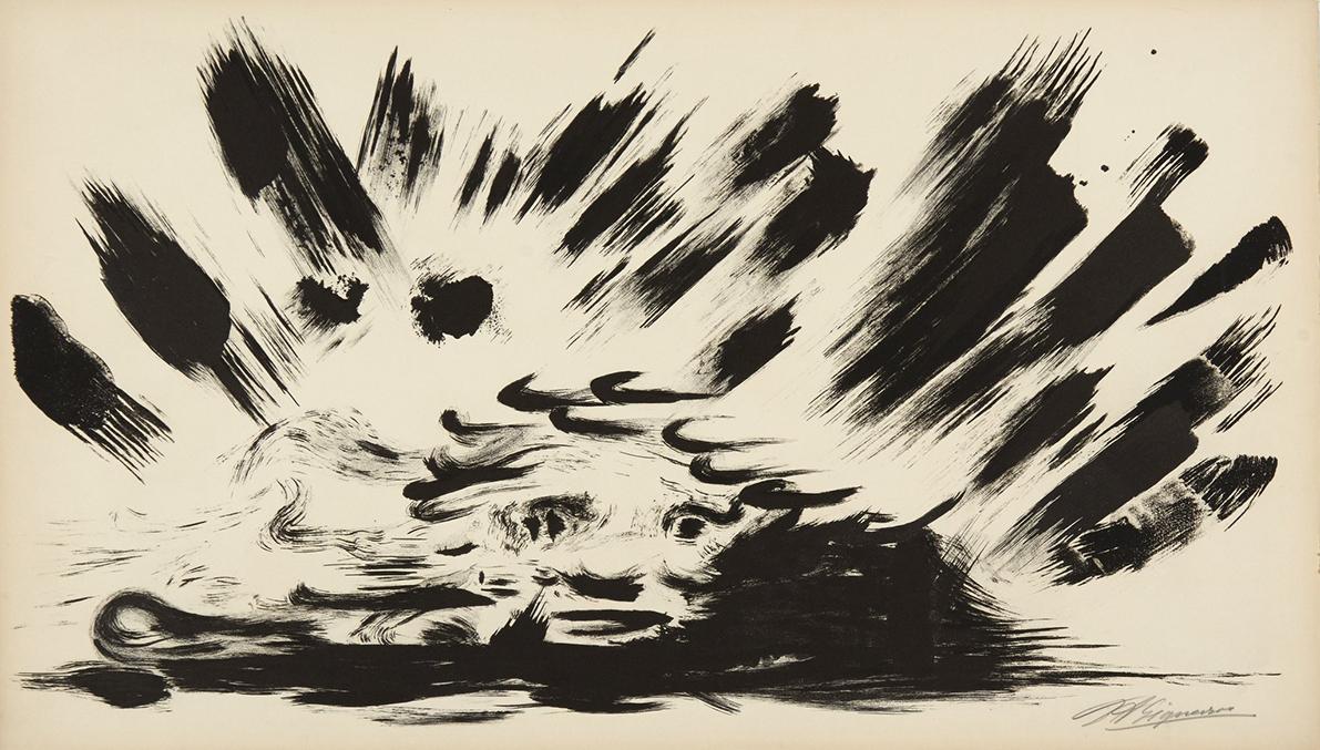 David Alfaro Siqueiros, Canto General 9, 1968, lithograph on paper