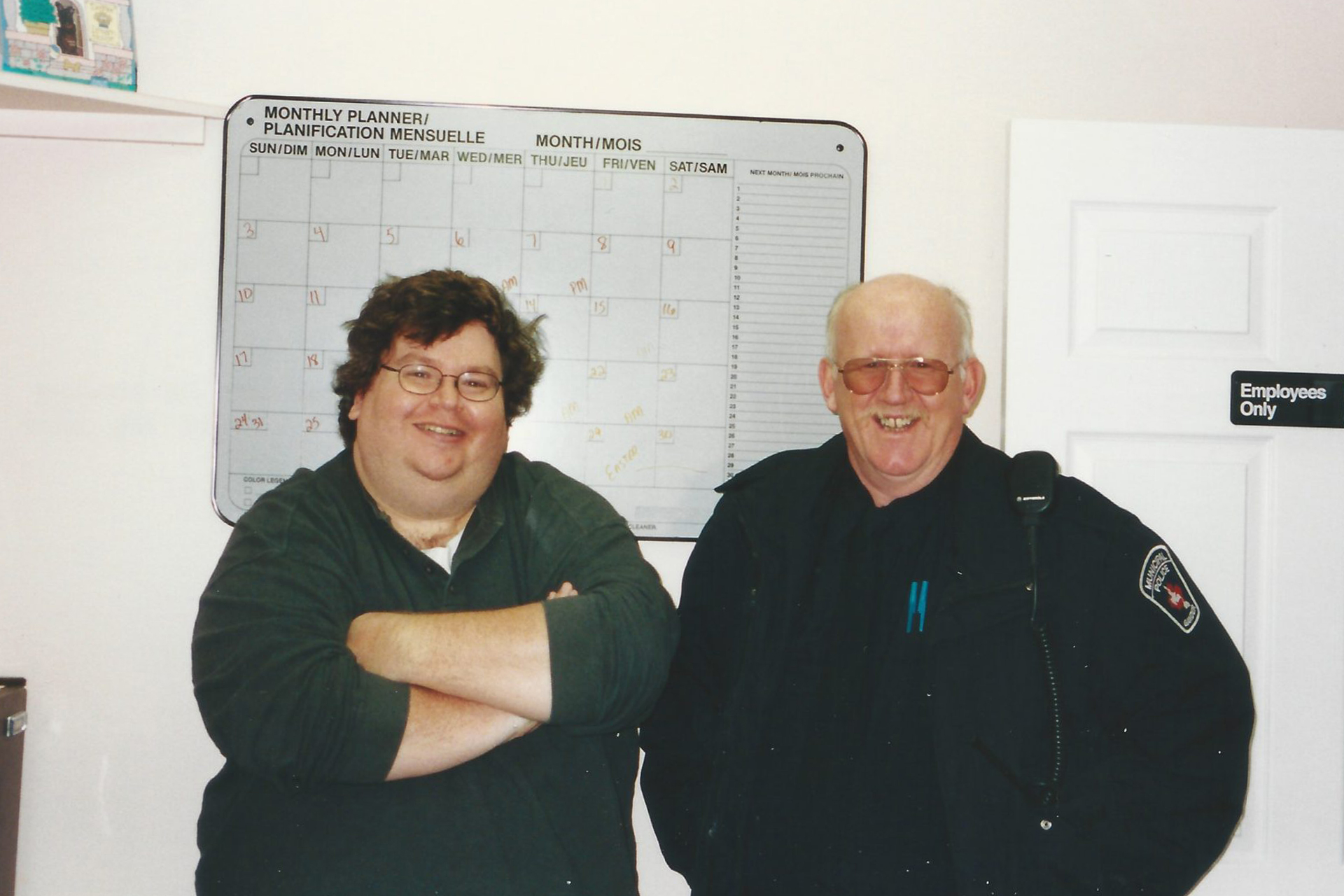 Jim DeFede with Constable Oz Fudge